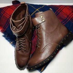 New! Vince Camuto Talorini Brown Combat Boots